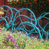 Copper Vine Fence Set with Turquoise Patina