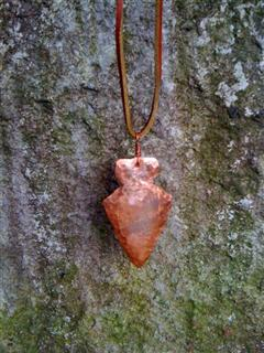 Copper Arrowhead Pendant