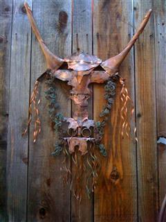 Copper Eagle Buffalo Totem
