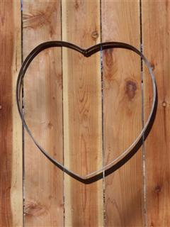 Steel Hoop Art - Heart