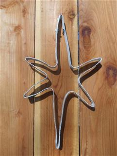Steel Hoop Art - White Star